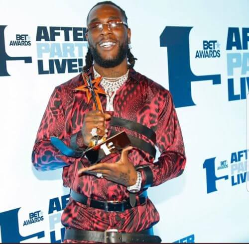 Burna Boy Wins Best International Act At The 2019 BET Awards    See Full List Of Winners