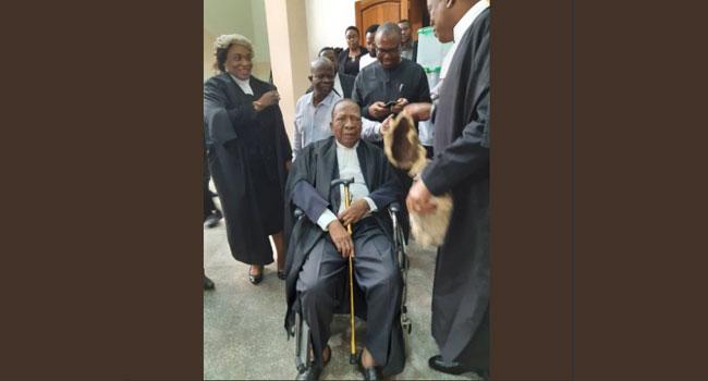 Presidential Election Tribunal: Constitutional lawyer, Ben Nwabueze leads Atiku's team as main hearing begins