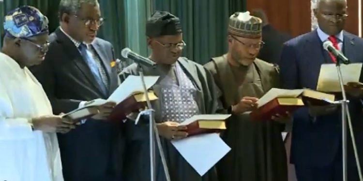 Photos: President Buhari concludes Ministerial designate swearing-in ceremony