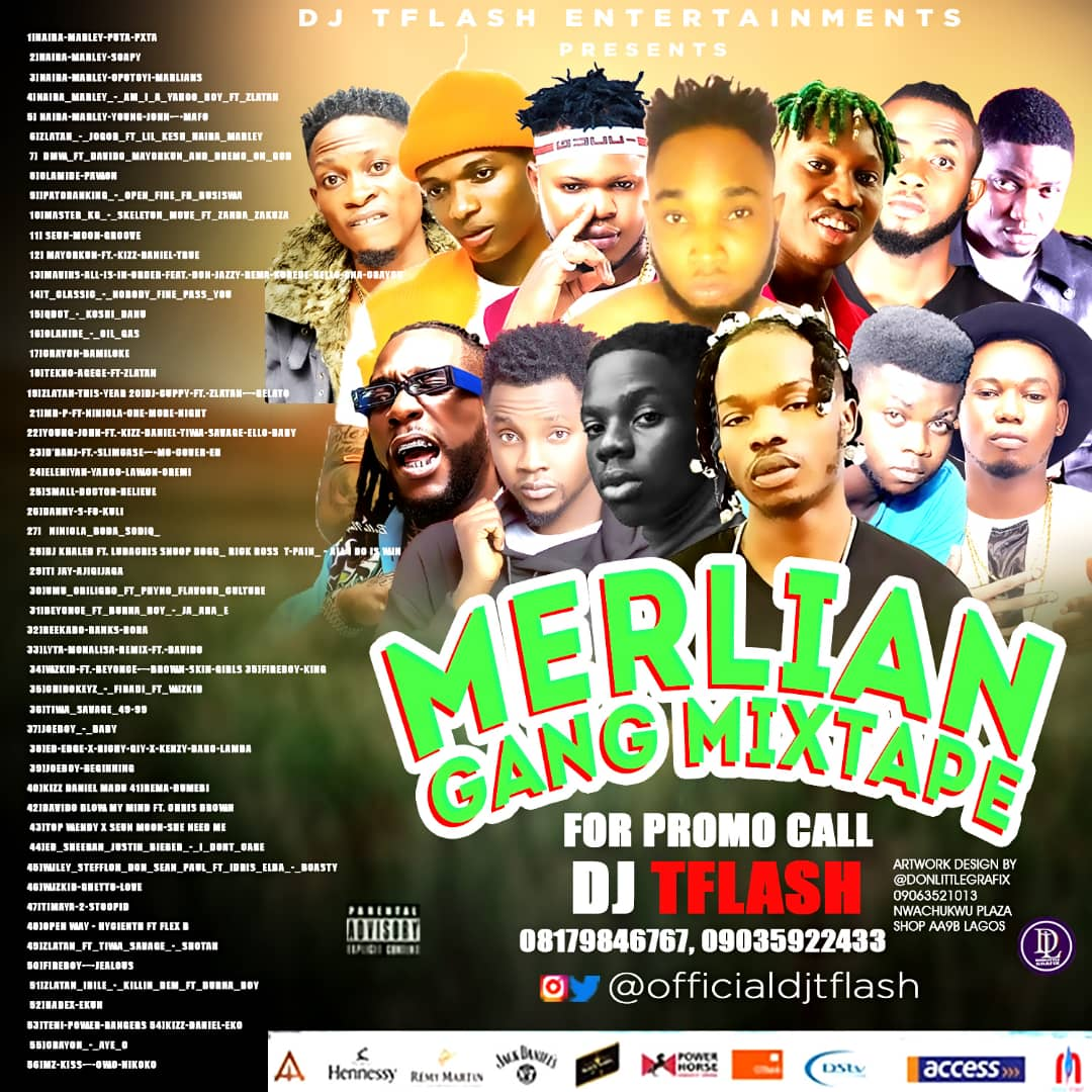Download Mixtape: DJTFLASH-MERLIANS MIXTAPE-0817846767