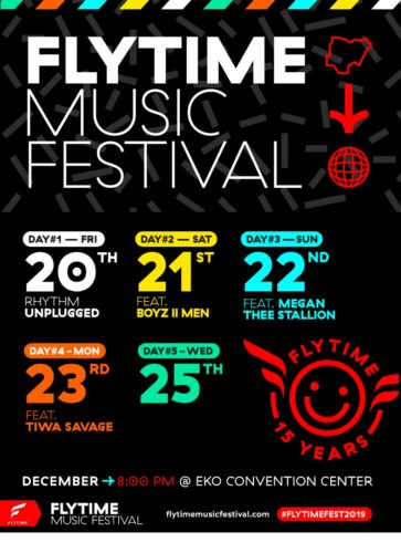 Tiwa Savage, Boyz II Men, Megan Thee Stallion, Mase, Koffee And More Unveiled For 5-Days Flytime Music Festival 2019!