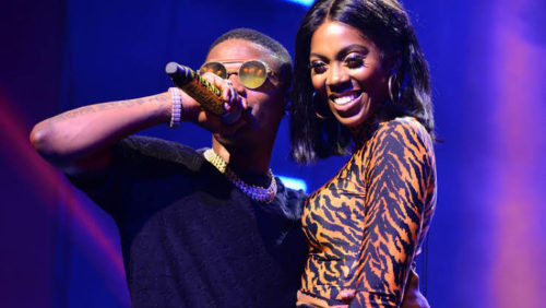 Watch Tiwa Savage & Wizkid All Loved Up At The Starboy Fest At The London O2 Arena