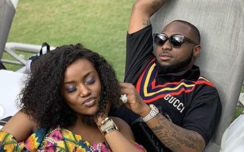 Watch Moment Davido Pressed Chioma's Breast Intensely In Front Of Passengers On A Plane