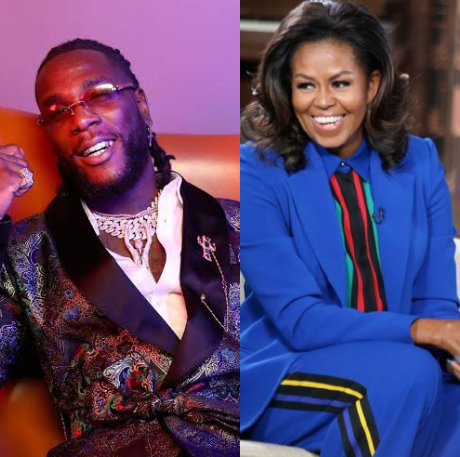 "Michelle Obama Lists Burna Boy's ""My Money My Baby"" In Her Workout Playlist For 2020"