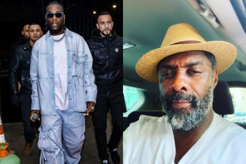 Burna Boy Consoles Hollywood Actor, Idris Elba After He Tested Positive For The Coronavirus