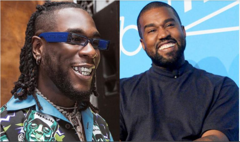Watch Video: Burna Boy & Kanye West Link Up At Yeezy Fashion Show In Paris