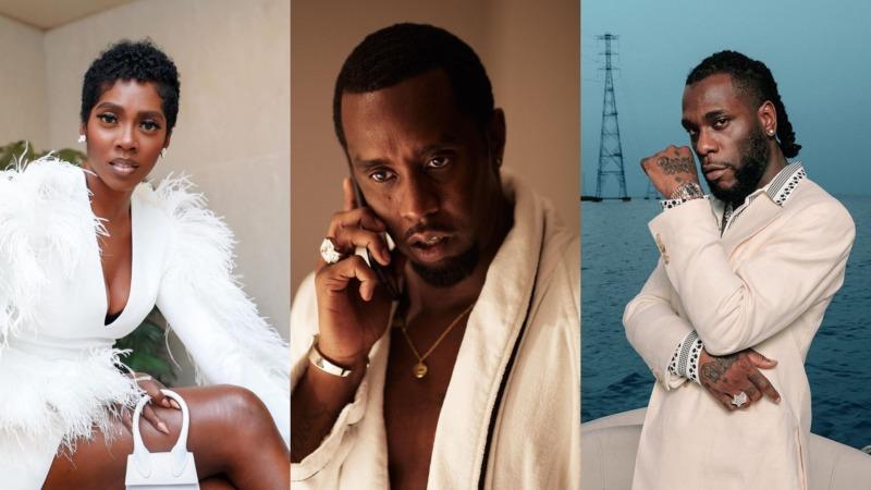 "Diddy Vibes To Davido's ""Fall,"" Burna Boy's ""Odogwu"" & Tiwa Savage's ""Attention"" || Watch"