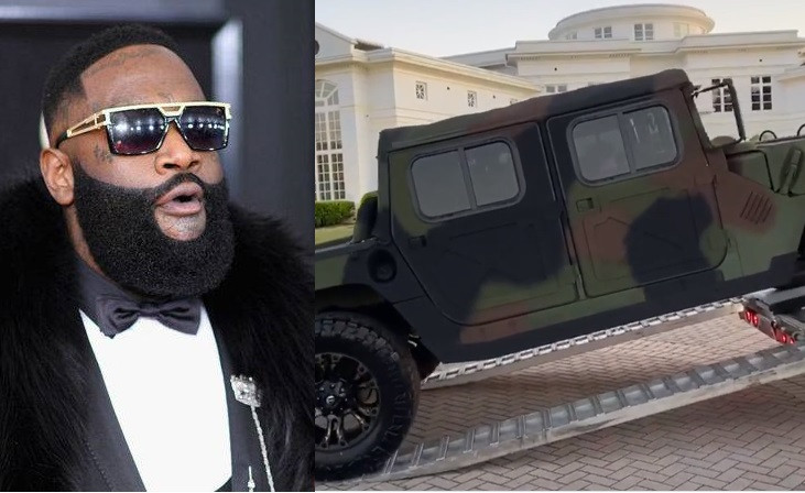 Video: Rapper, Rick Ross buys himself a customized Military Maybach Humvee