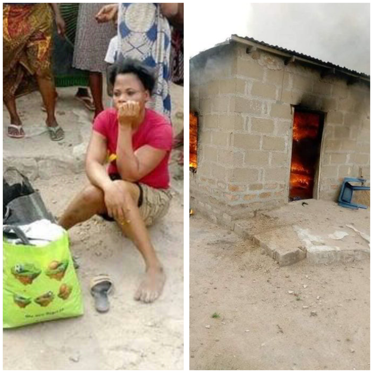 Woman allegedly sets her boyfriend's house ablaze over misunderstanding in Benue